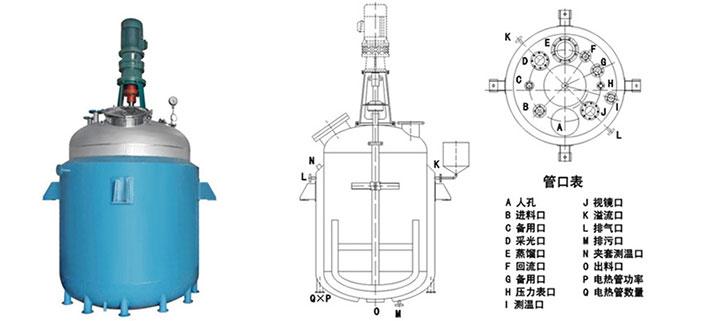 电加热反应釜结构图