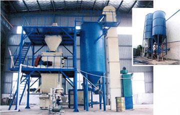 干粉砂浆生产中的水泥储罐